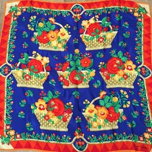 "Vintage Pierre Cardin silk? scarf, 34"" square"